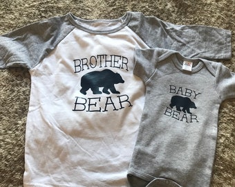 Baby Bear/Brother Bear Matching T-shirt's/New Baby Brother Gift/Matching Family Shirts