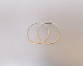 Small Hoop Sterling Silver 925 Earrings 14mm Thin Minimalist