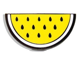 Yellow Watermelon Hard Enamel Pin