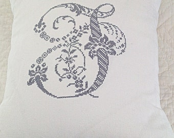 Cross stitch embroidered Sajou pillow to order