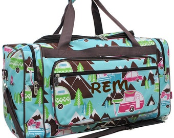 Personalized camping travel bag, RV tent duffel bag, weekend travel duffel bag, Outdoor bag, camping gear bag, gift idea