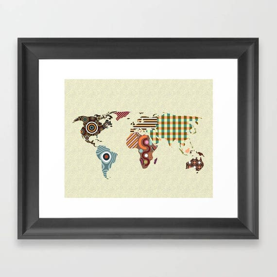 World map wall art world map poster world map decor world world map wall art world map poster world map decor world map painting world map design world map drawing living room decor gumiabroncs Gallery