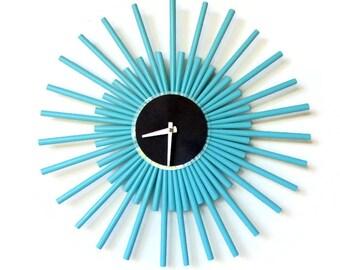 Large Wall Clock, Nautical Blue HGTV Magazine Home Decor