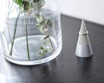 SILVER Concrete Ring Cone