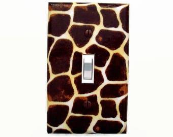 Giraffe Print Light Switch Cover - Animal Print Switch Plate - Giraffe Switch Plate Cover - Giraffe Outlet Cover - Safari Bedroom Decor