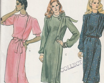 Vogue 8148 Vintage Pattern Womens Loose Fitting Dress in 3 Variations Size 14 UNCUT