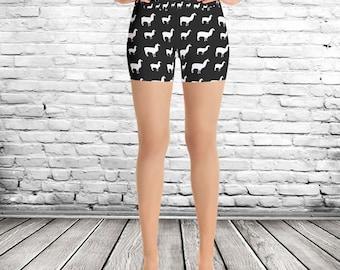 Llama Yoga Shorts, Llama bike shorts, pattern shorts, animal shorts,womens shorts, teen shorts, llama pattern,animal print shorts