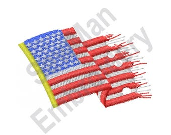 United States Flag - Machine Embroidery Design, American Flag