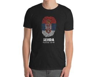 Serbia Soccer T Shirt Fingerprint 2018 Serbia Jersey