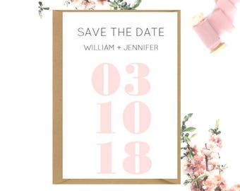Modern Save The Date cards x 80