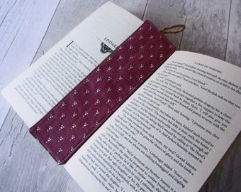 Purple Bookmark - Fabric Bookmark – Teacher Gift – Party Favour – Bookworm Gift – Book Lover Gift – Stocking Filler - Unique Teacher Gift