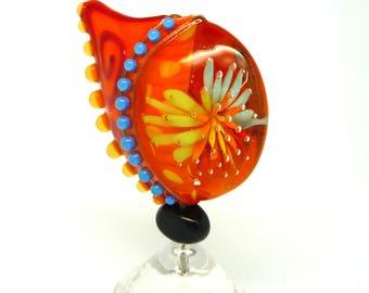 Art Glass, Lampwork Glass Bead, SRA, Focal Bead, Bea Stoertz, Bea The Beadmaker