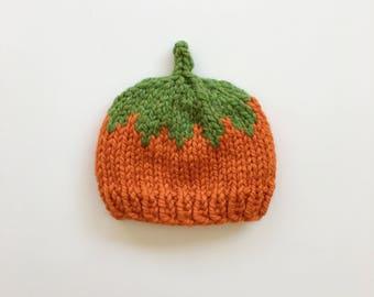 Knit Pumpkin Hat- Various Sizes    Fall Hat    Halloween Hat    Photography Prop