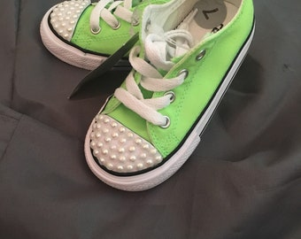 Customized Children's Converse Sneakers  Size 7c