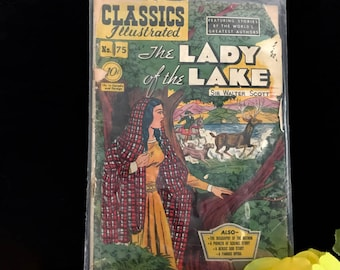 """Comic book """"The Lady of the Lake"""" by Sir Walter, 1st Printing 1950"""