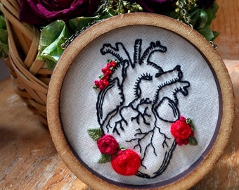 Anatomical Heart with roses