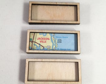 6 piece laser cut wood frame set. 3 laser cut large, wide, solid rectangles and 3 same size frames. Laser cut wood art and jewelry supply.