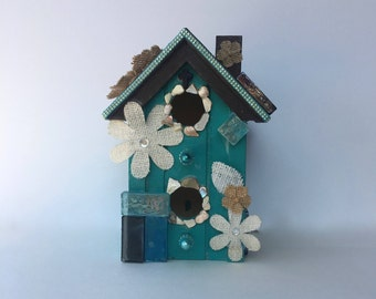 Nature Teal Bird House