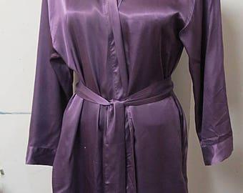 Victoria,s Secret Vintage  Purple Robe Dressing Gown   #202