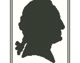 George Washington Silhouette - Original Cross Stitch Chart
