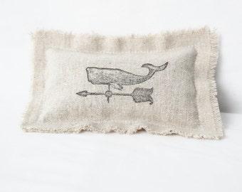 Whale Lavender Sachet with Rose & Jasmine Flowers - Nautical Decor Pillow Sachet - Rustic Beach Wedding Favor - Botanical Sachet