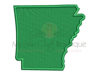 Arkansas Embroidery Designs - 8 Sizes - Instant Download