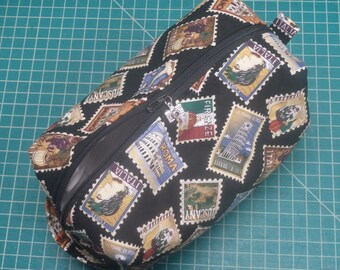 Italy Travel Bag, Stamp Bag, Ditty Bag, Dopp Kit, Toiletry Bag, Makeup Bag, Pencil Case, Go Bag, English Wet Sack, Zip Pouch