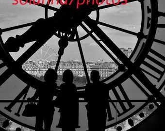 THE THREE SISTERS, Black & White Paris Photography, Musee d' Orsay, Paris, France Wall Hanging Art