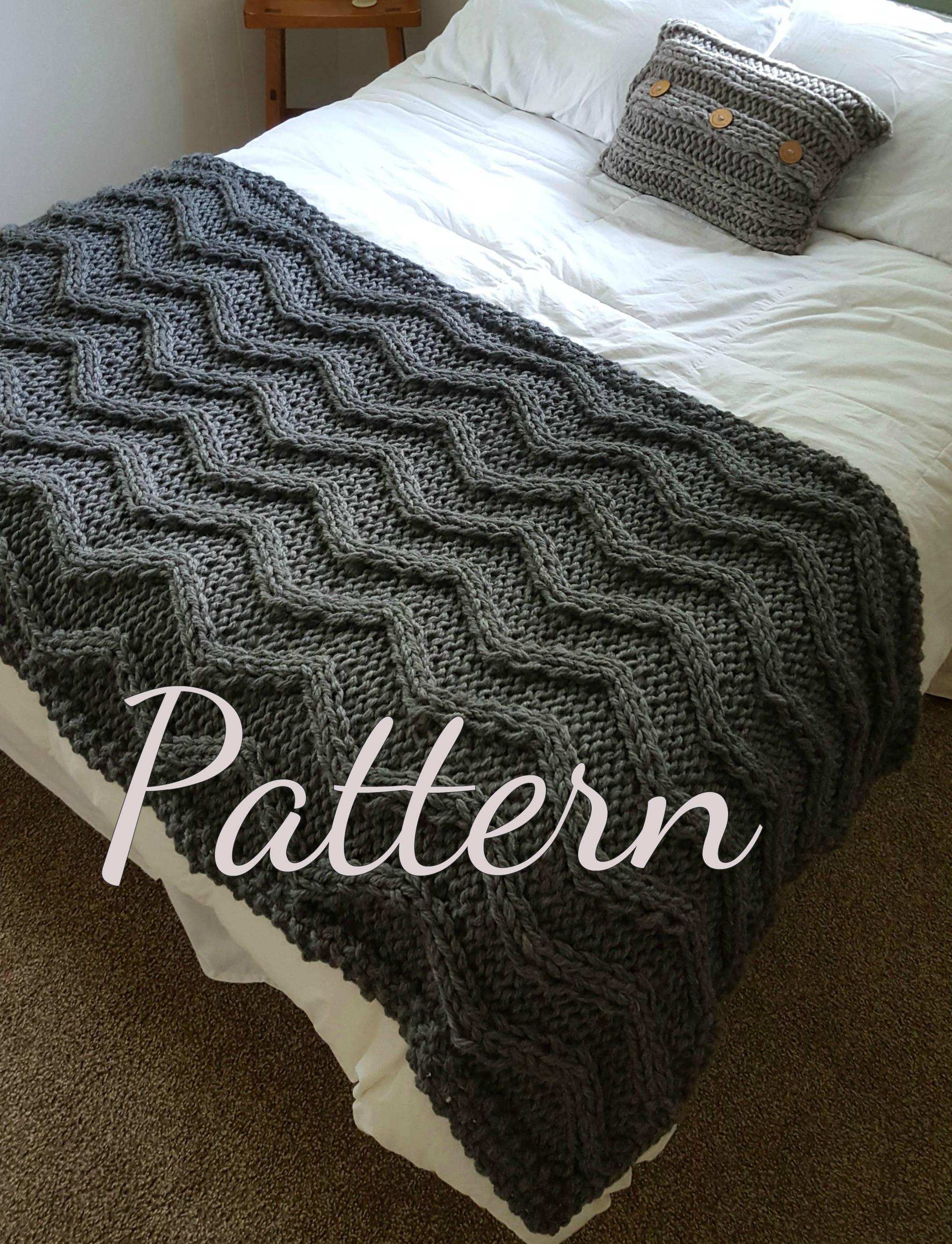 Chevron Cable Knit Blanket PATTERN