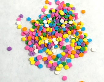 """PASTEL POLKA DOT Sprinkles, 1/8"""", 2 oz"""