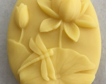 All Natural Shea Butter Beeswax Lotus Flower Dragonfly Lotion Bar ~ Scented or Unscented ~ 2.25 oz