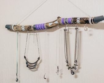 Bohemian Wooden Jewelry Holder, Jewelry Organizer, Wooden Jewelry Tree, Jewelry Stand, Natural Branch Jewelry, Eco Style