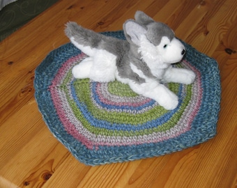 Dog or cat blanket from lambswool