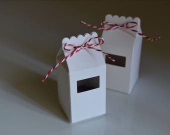 10 Milk Cartons Boxes - White - Handmade - Candy Boxes/Favour Bags/Party Favours/Wedding Guests
