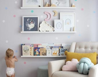 Wall Decals Nursery, Baby Wall Decal, Kids Wall Decal, Nursery Wall Decal,  Confetti Wall Dots, Girl Wall Decal Wall Decal Kids Pastel Decor