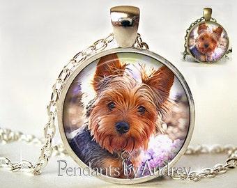 Yorkie necklace etsy yorkie necklace yorkie jewelry yorkie pendant dog jewelry art pendant puppy aloadofball Choice Image