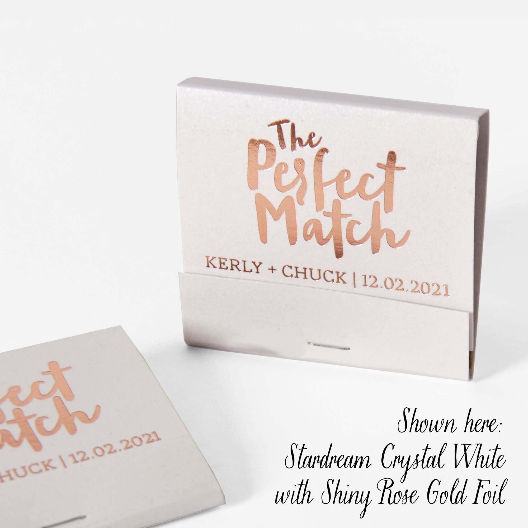 THE PERFECT MATCH Matchbooks Wedding Favors Wedding