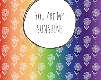 You are my sunshine. Discplanner cover
