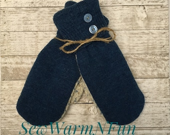 Up-cycled Mittens, Sweater Mittens, Mittens from Sweaters, Classic Mittens, Eco Friendly Mittens, Winter Gloves, Women's Mittens, Wool Mitts