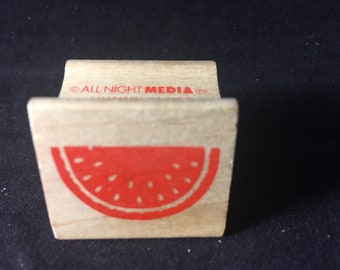 Watermelon Slice Rubber Stamp - Used -