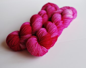 Pink Perfection, Hand Dyed Yarn, Cashmere