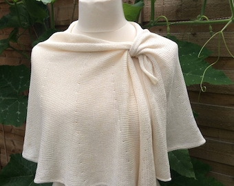 Ivory Wedding Capelet. Bridal Jacket. Romantic Wedding Shrug. Fashion Statement , Unique Bridal Cover Up. TIE THE KNOT by studiorajka