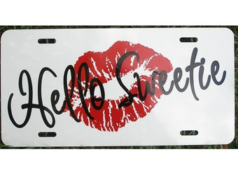 Doctor Who Hello Sweetie River Song License Plate Car Tag