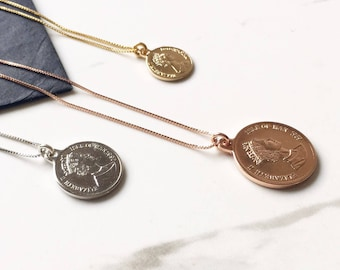 Silver Coin Necklace, Coin necklace, Minimalist Jewelry, Everyday Necklace, Silver Necklace, Everyday Jewelry Silver, Layered Necklace.