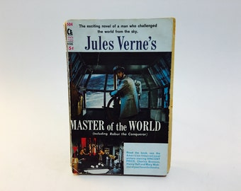 Vintage Sci Fi Book The Master of the World by Jules Verne 1961 Movie Tie-In Paperback