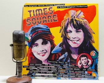 """Lou Reed / The Ramones / XTC / The Cure / Talking Heads 1980s New York Vinyl Record Album Soundtrack LP, """"Times Square"""" (1980 RSO Records)"""