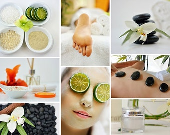 Spa Massage & Facial Collage Image
