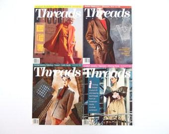 Vintage 1991 Threads Magazine, No. 34, 35, 37, 38