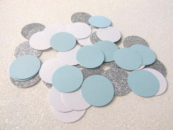 225 Light Blue Silver Confetti Birthday Decorations Boy