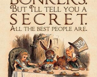 "Alice in Wonderland ""You're Entirely Bonkers!"""" Print"